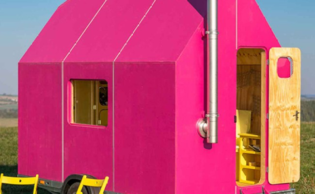 The Magenta Tiny House Is A Kitsch Interpretation Of