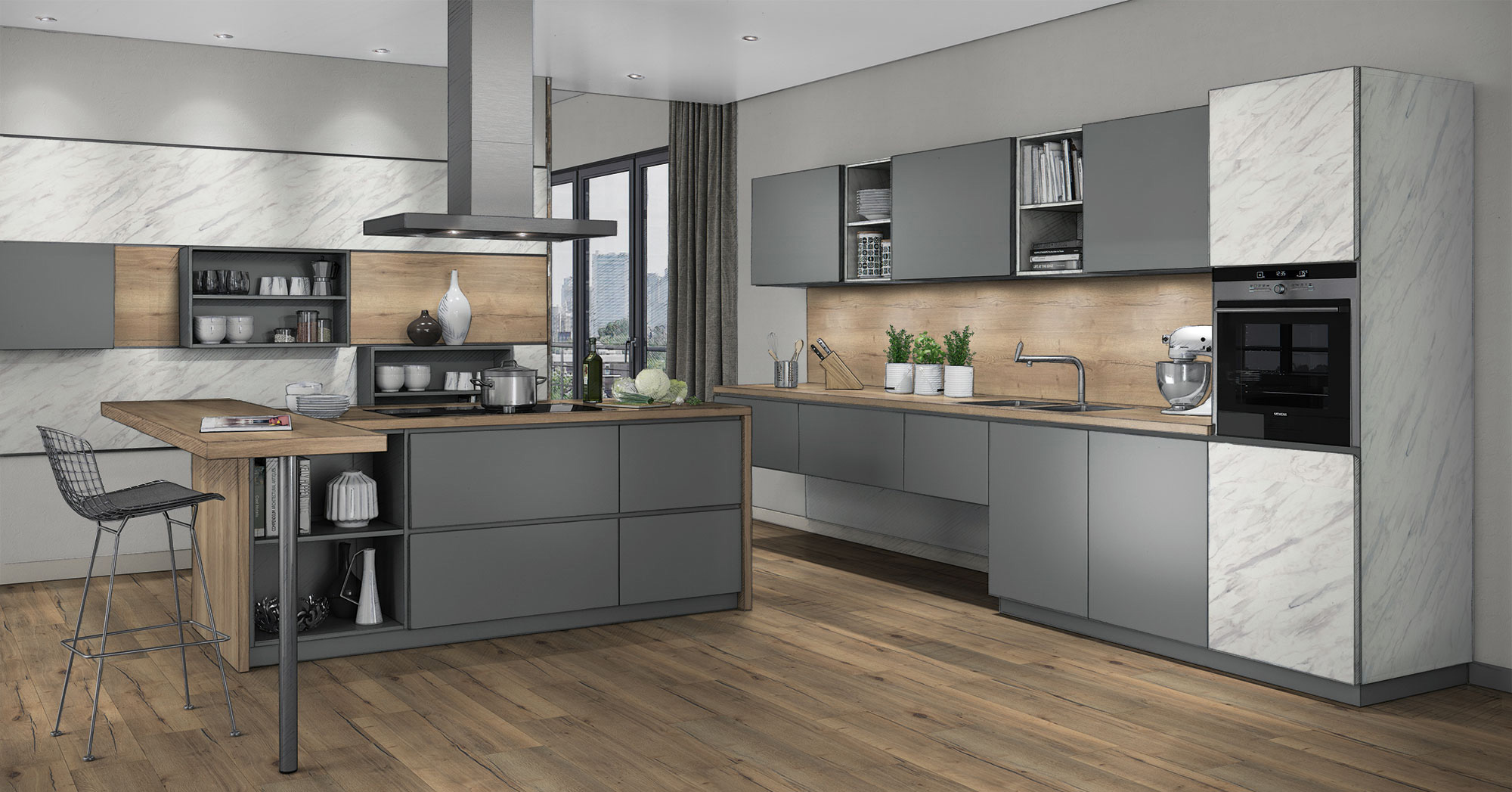 Egger S Decor Selections Enable Perfectly Coordinated Kitchen Designs
