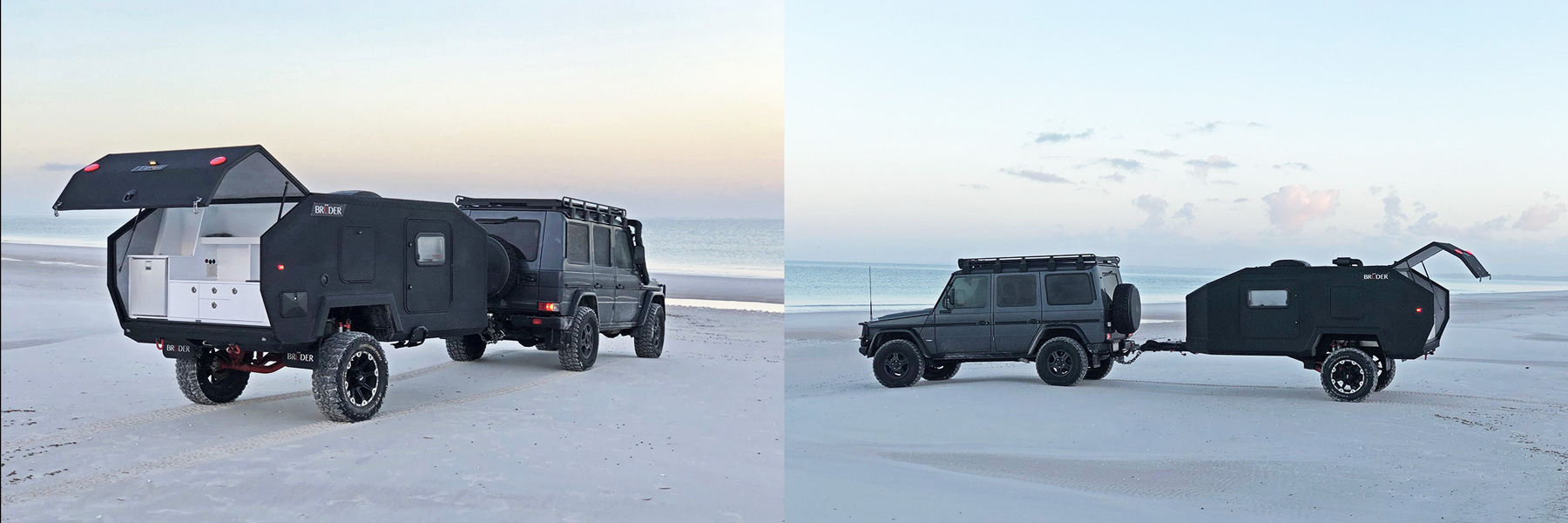the bruder EXP4 is a rugged offroad camper with teardrop