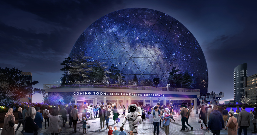 Londons Proposed MSG Sphere Is Clad In A Skin Of