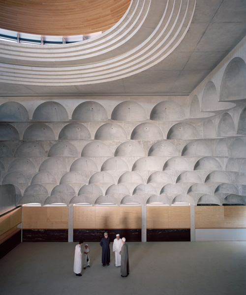 102 Quarter Spherical Concrete Domes Adorn Punchbowl Mosque By Candalepas Associates