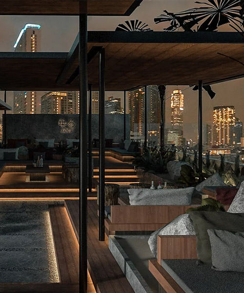 K Thengono Designs Elevated Lounge Garden For Hotel Rooftop