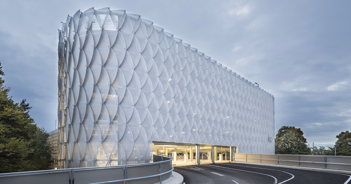 Wulf Architekten Designs Perforated Metal Fa 231 Ade For