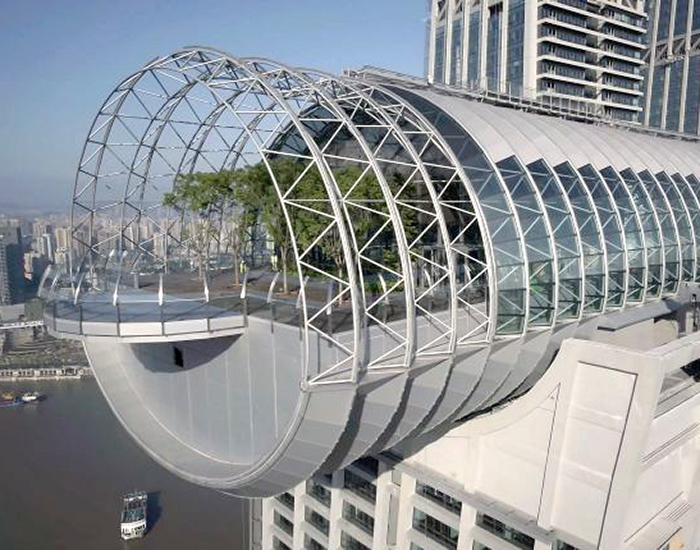 safdie architects' horizontal skyscraper opens to visitors in ...