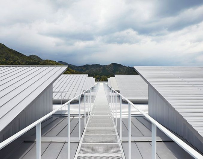 Eight Steel Roofs With Different Textures Top Factory In Japan By Kenzo Makino Associates Free Download Architectural Cad Drawings