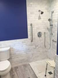 Beveled Marble Subway Tile - Design Build Planners