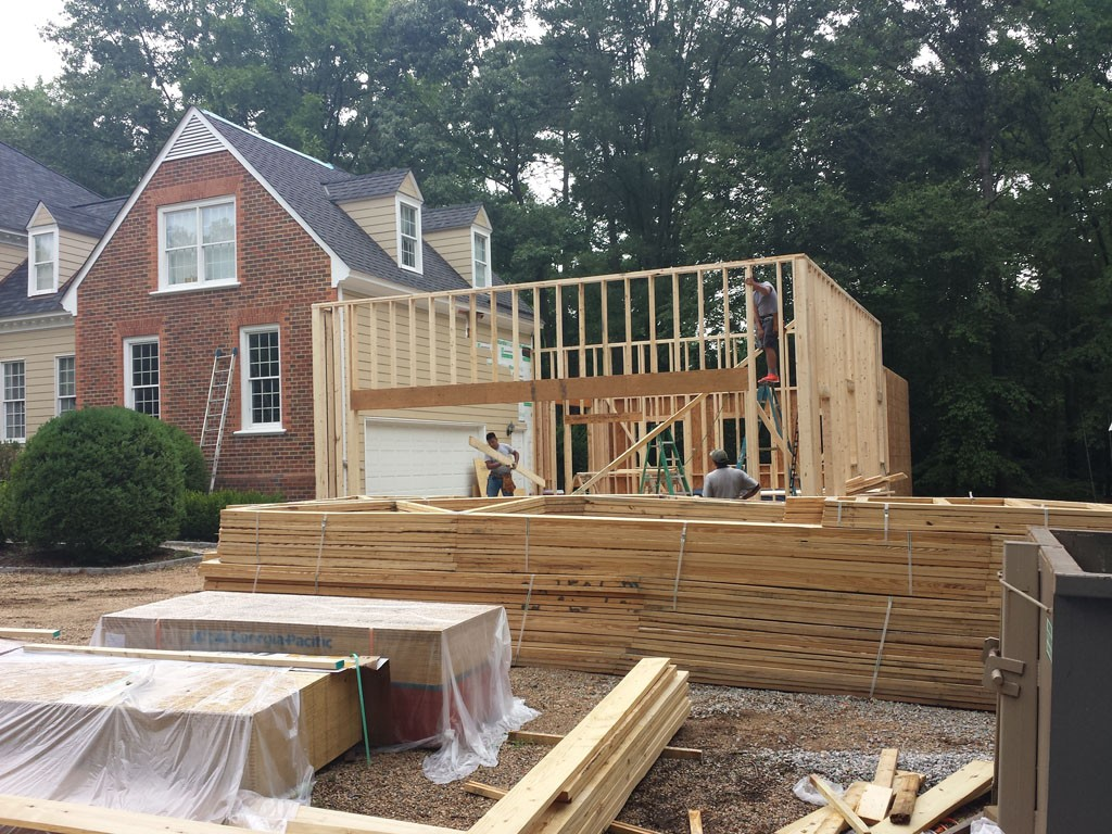 Virginia Home Addition Project by Leo Lantz Construction  Design Build Planners