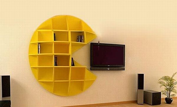 Bookcase Design Inspired by the Pac Man Game