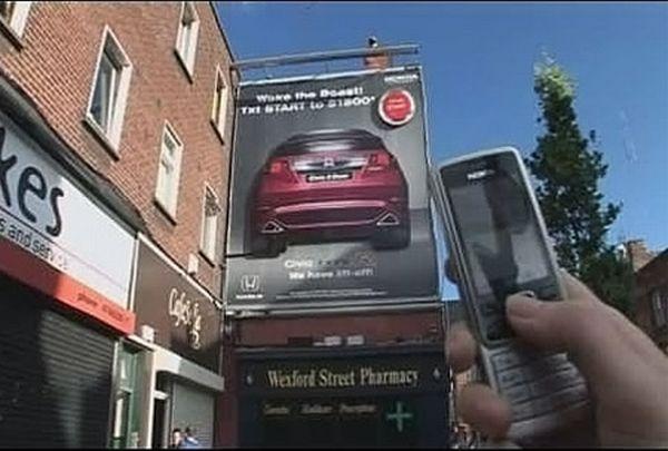 Honda Billboard Interacts Via SMS And Bluetooth