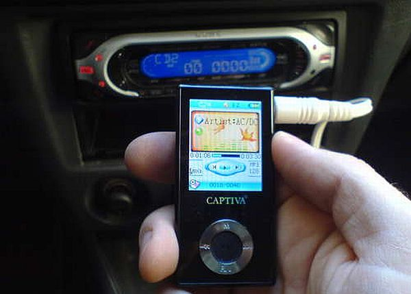 hooking up portable music player