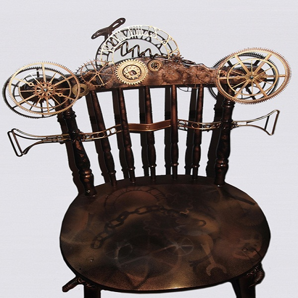 Steampunk furniture designs for rustic interiors designbuzz for Steam punk chair