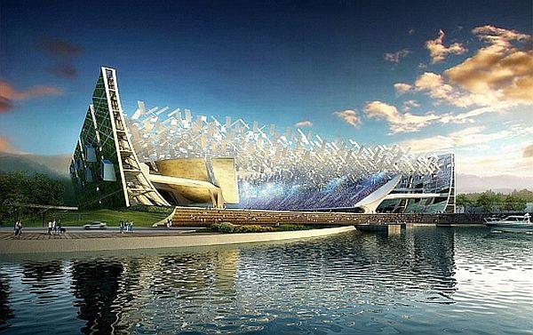 New Dalian Shide soccer stadium