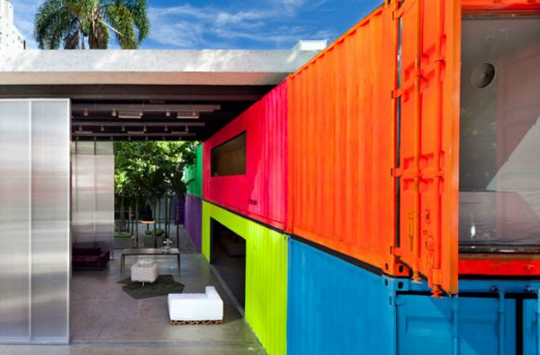Painted shipping containers