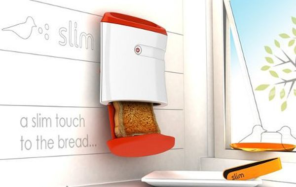The slim wall mounted toaster