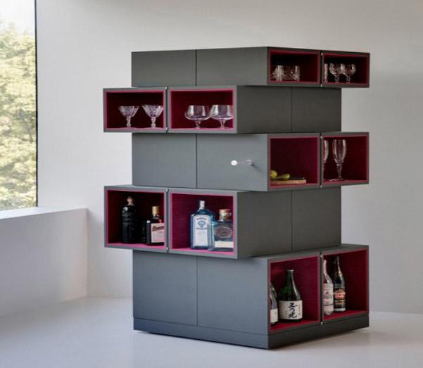 Cubrick cabinet lo stipetto ispirato al cubo di Rubik