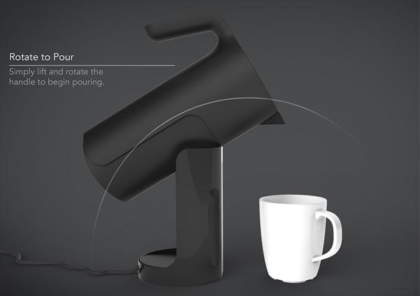 Bollitore per il t Tilt che scalda e versa  DesignBuzzit