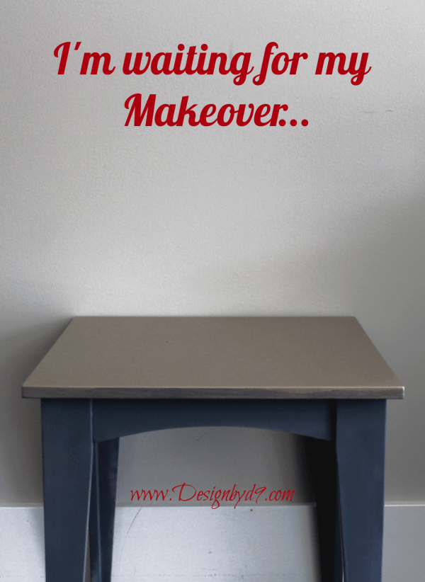 Take on ugly end table and give it a makeover using decoupage, chalk paint, milk paint and some stripes and you have yourself an ugly end table makeover