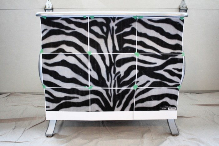 Up cycled Bombay chest with zebra stripes. Full step by step tutorial and free pattern. I'll walk you through this furniture makeover. This upcycle will work on any piece of furniture. Pattern overlay