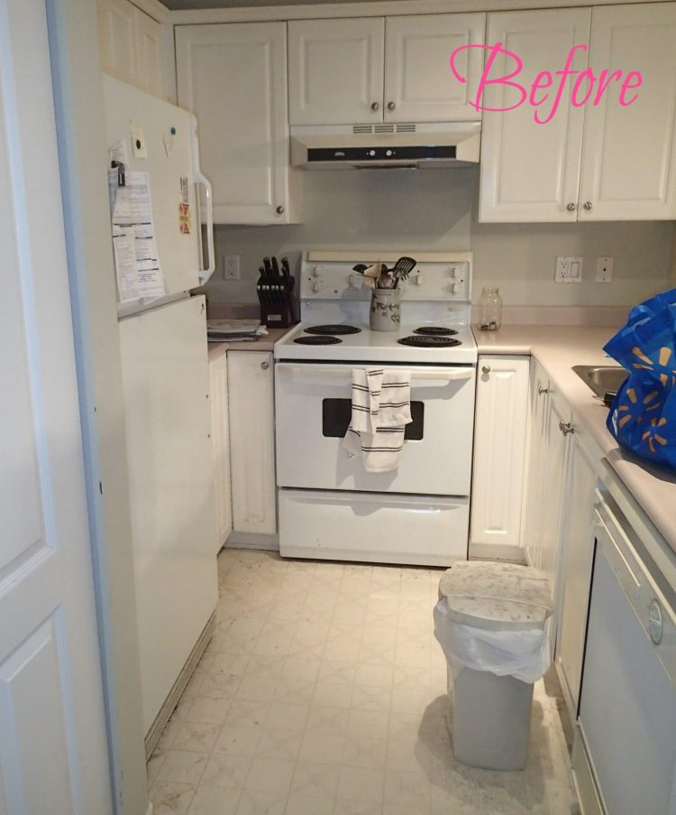 Before, kitchen update, cheap kitchen reno, re-sale, condo reno