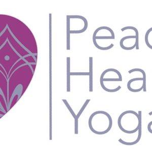 logo design peaceful heart yoga westminster md