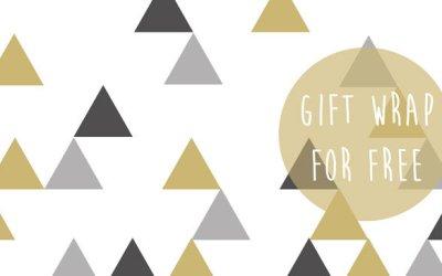Gratis Printable Cadeaupapier met Driehoeken