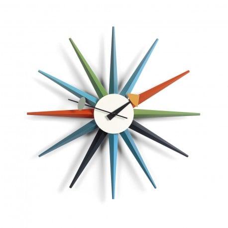 sunburst clock multicolor