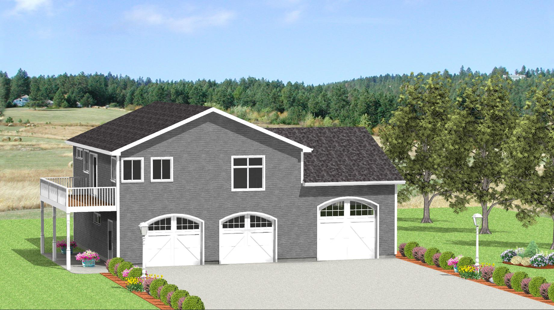RV garage plans from Design Connection LLC  house plans