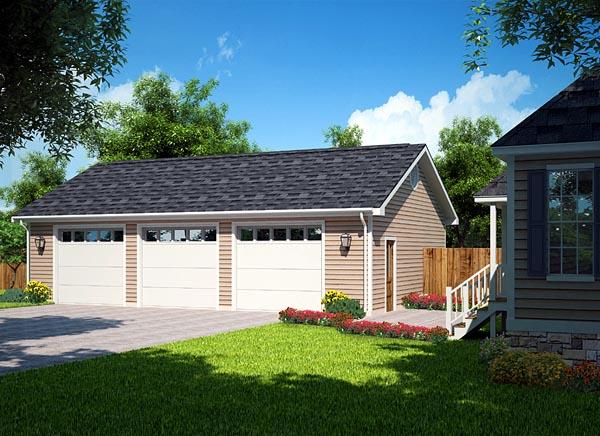 3 car garage plans from Design Connection LLC  house plans  garage plans