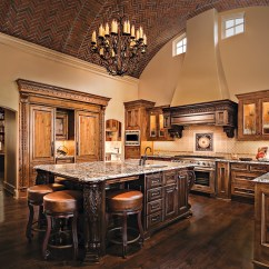 Tuscan Kitchen Island Rustic Valances Kansas City With A Taste Of Tuscany Design