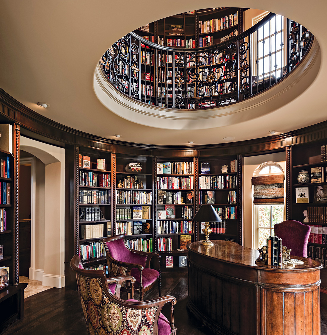Tuscan Inspired Home Library Comes Full Circle A Design Connection