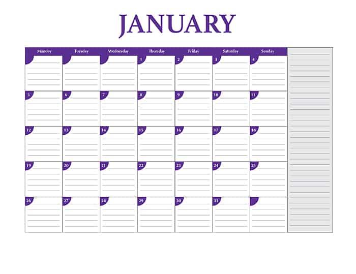 Calendar Css Template | Daily Calendar Math