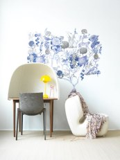Adesivo de parede azul