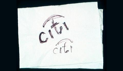 Citi-logo-napkin-sketch-Paula-Scher1