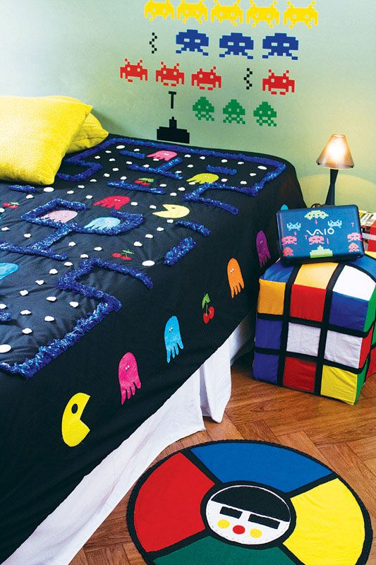 ambientes inspirados em games design culture. Black Bedroom Furniture Sets. Home Design Ideas