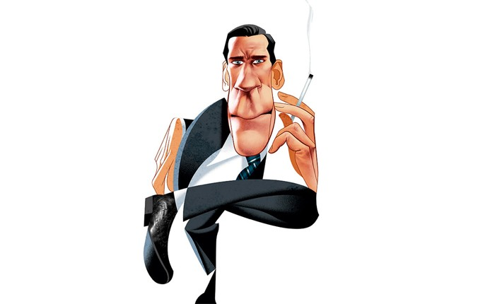 Don Draper por André Carrilho