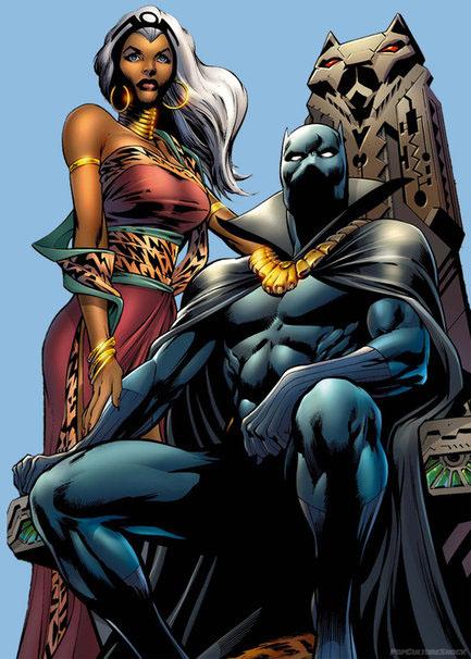 Pantera Negra e Tempestade.