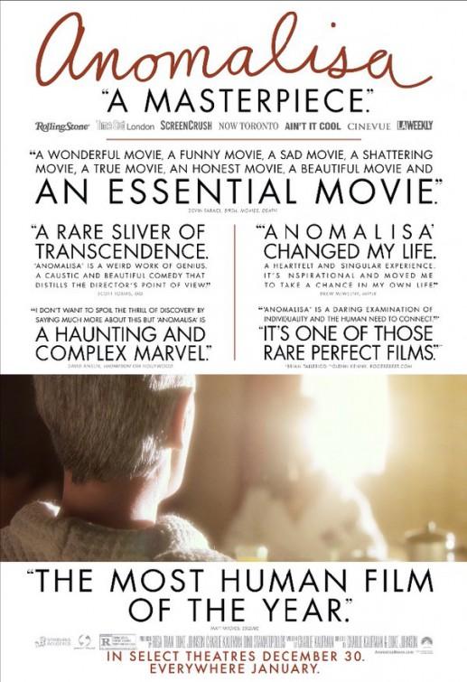 "Poster do filme ""Anomalisa"""