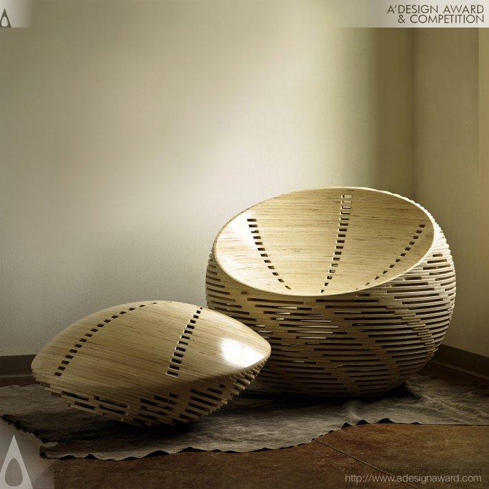 Cadeira Strata de Ben Preston.