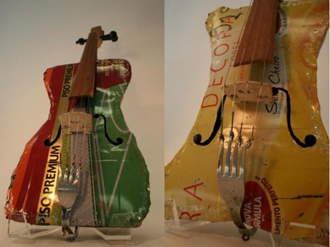 Instrumentos da Orquestra de Cateura