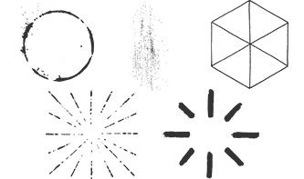 Vector pack of Sunbursts, Geometric Shapes, Ornaments and