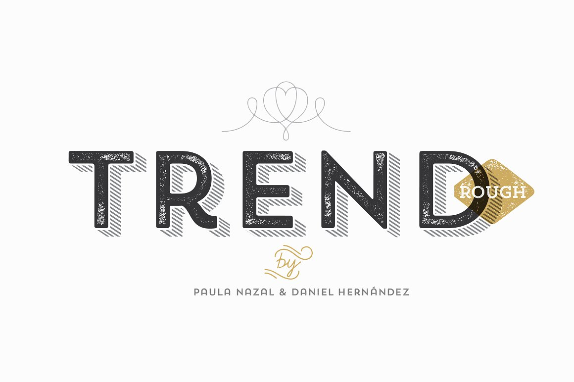 Trend Rough Font Family: A Fashionable And Current Sans
