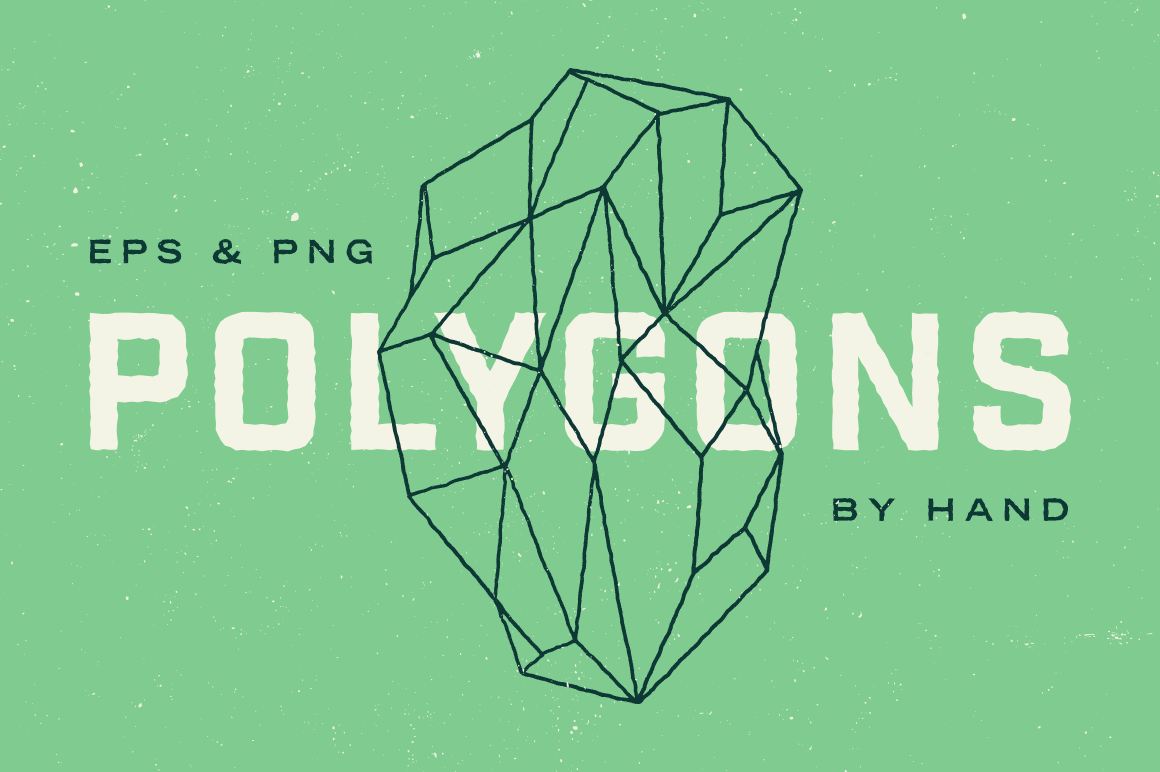 Add Epic Geometric Polygon Shapes Into Your Work