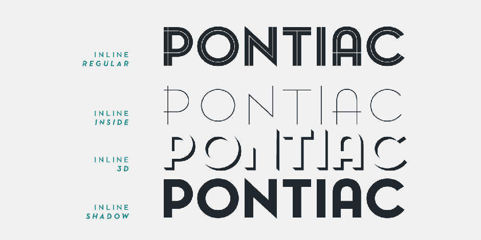 Download Bold And Beautiful Pontiac Inline Font For Your Collection