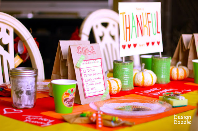 Kids Thanksgiving table activities - Design Dazzle