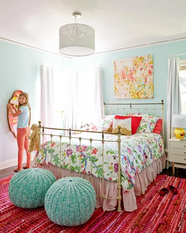 Bright Colorful Tween Bedroom