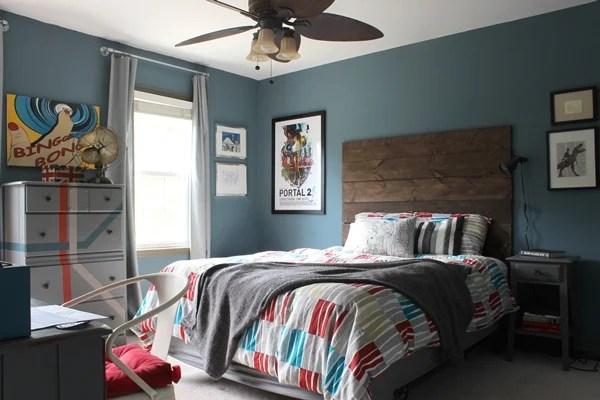 Rustic Modern Teen Boy's Room