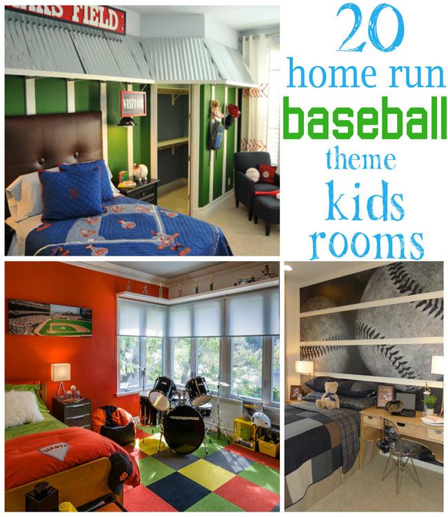 20 Home Run Baseball Theme Kids Rooms Design Dazzle