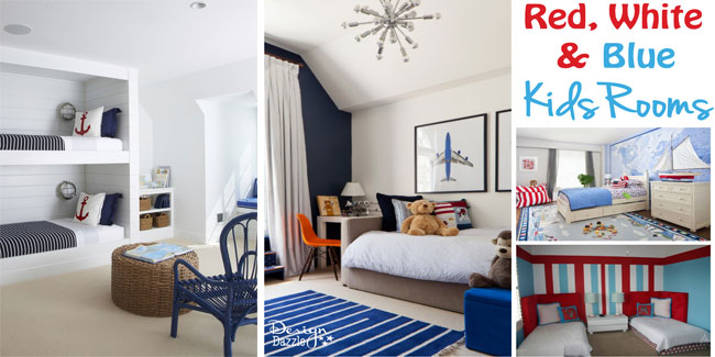 Red white and blue bedroom decorating ideas for Red and blue room decor