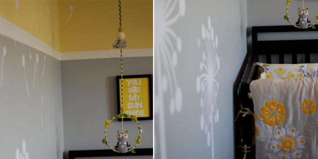 Contemporary Yellow  Gray Sunshine Nursery  Design Dazzle