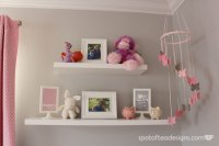 Pink and Gray Baby Girl's Nursery - Design Dazzle